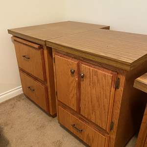 Lot # 167 - Two Vintage Office Cabinets/File Cabinet
