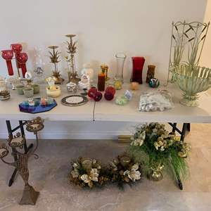 Lot # 104 - Candles, Candle Holders, Decor & More
