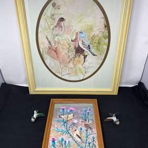 Lot # 117 - Two Framed Bird Prints
