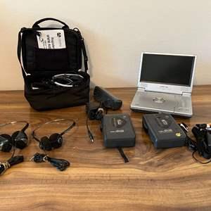 Lot # 182 - Audiovox Portable DVD Player, Two Vintage Seiko Walkman
