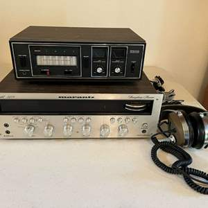 Lot # 187 - Vintage Marantz 2270 Stereophonic Receiver, Craig 8-Track Player, Koss Phase 2 Headphones