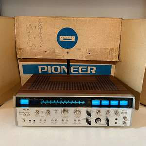 Lot # 214 - Vintage Pioneer QX-9900 4-Channel Receiver - (Powers On)