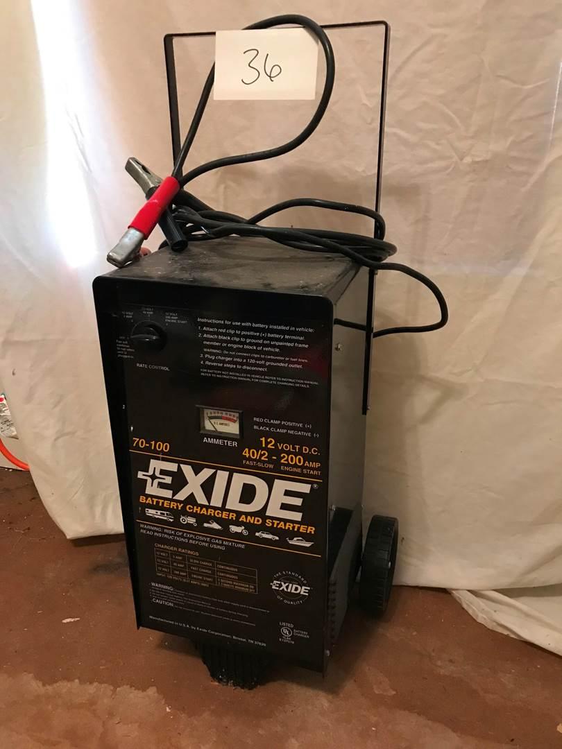 Lot # 36 - Like New Exide 70-100 Battery Charger & Starter. (main image)