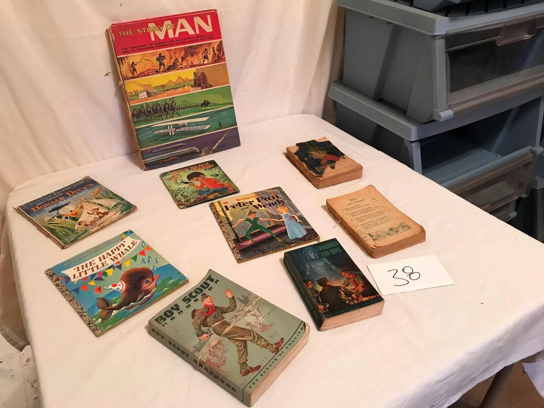 Lot # 38 - Vintage Boy Scout Hand Books, Vintage Children's Books. (main image)