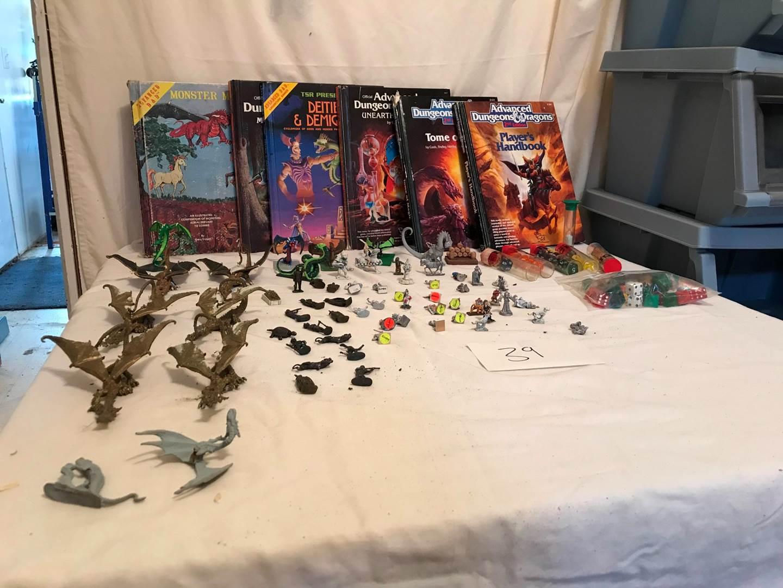 Lot # 39 - Vintage Metal Dungeons & Dragons Figurines & Books. (main image)