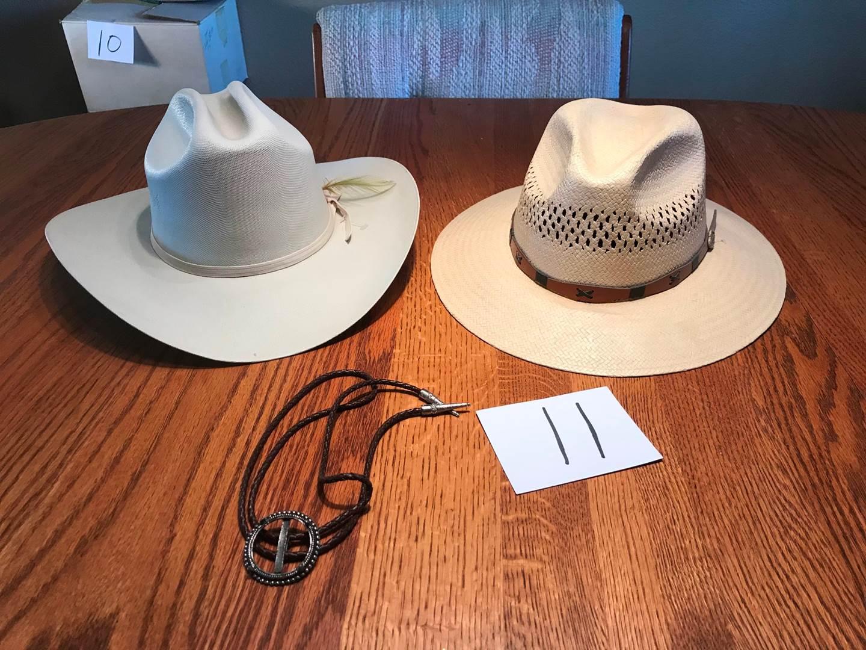 Lot # 11 - 2 Cowboy Hats size 7 3/4 & Medium (main image)
