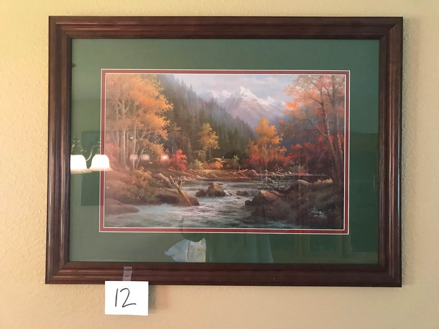 """Lot # 12 -Serene Wilderness Signed Print #522/999 """"Can not make out signature"""" - 33"""" x 25"""". (main image)"""