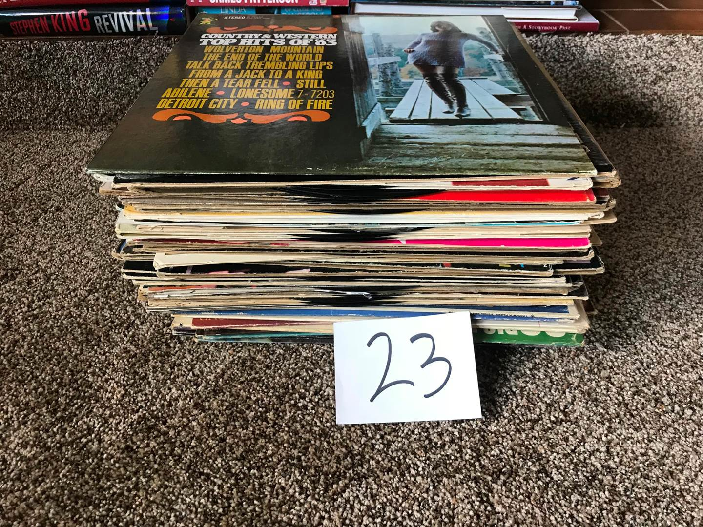 Lot # 23 - Albums: 40 or so: Diana Ross, Bobby Vinton, John Denver, Johnny Rivers, more (main image)