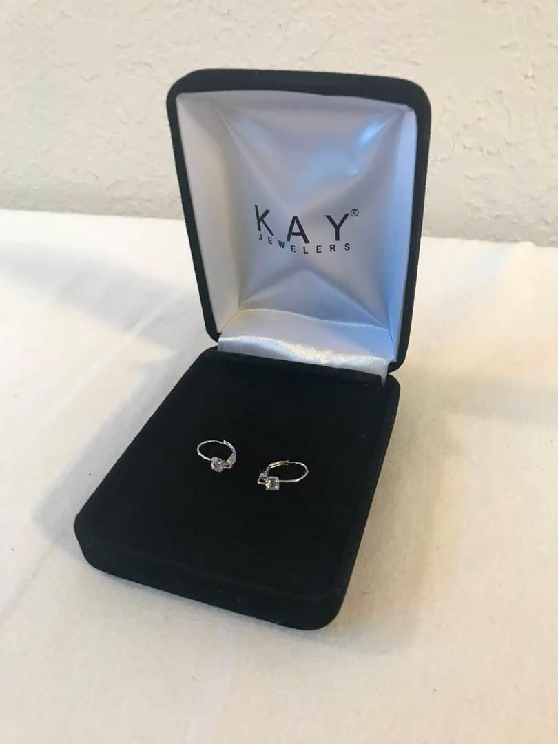 """Lot # 181 - 10K Gold Diamond Earrings - .81 grams """"Tested"""". (main image)"""