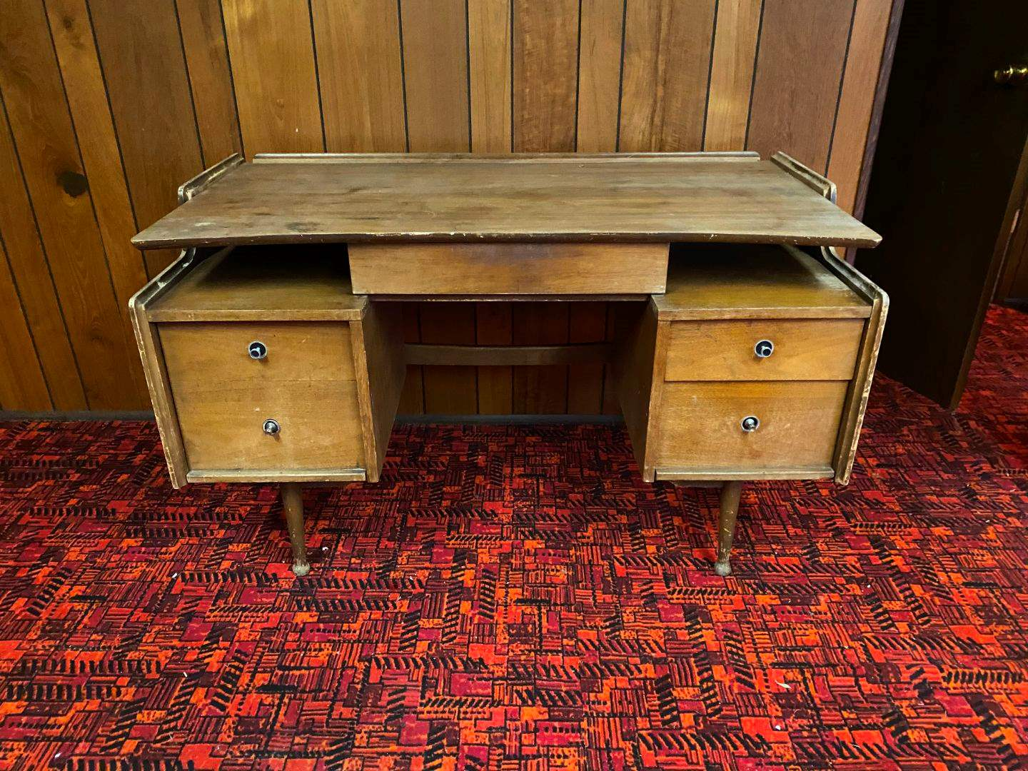 lot 28 mid century mainline by hooker floating desk wdovetail drawers