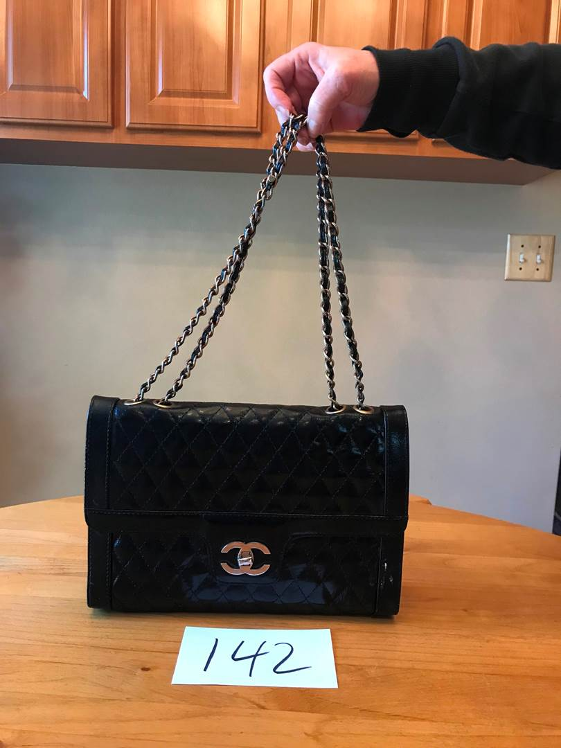 Lot # 142 - Nice Black Chanel Purse (Owner States She Bought at Chanel Retail Store in Iran) (light wear). (main image)