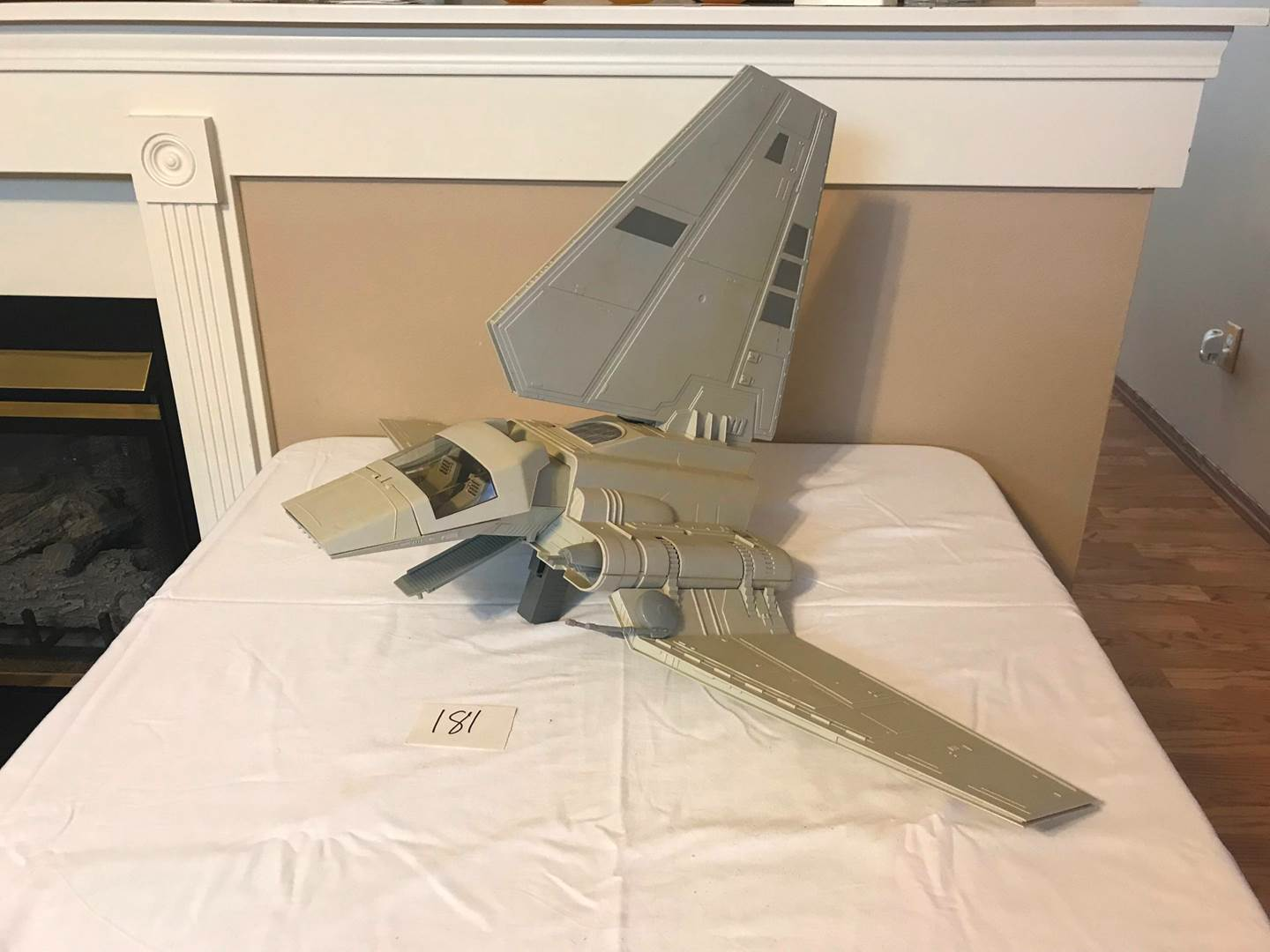 Lot # 181 - Vintage Original Star Wars Imperial Fighter Ship. (main image)
