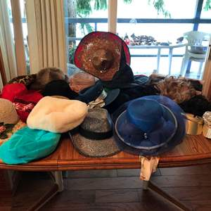 Auction Thumbnail for: Lot # 139 - Selection of Women's Hats & Wigs