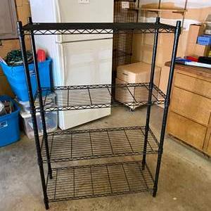 Auction Thumbnail for: Lot # 279 - Black Metal NSF Whalen Storage Rack