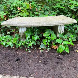 Auction Thumbnail for: Lot # 276 - Cement Garden Bench
