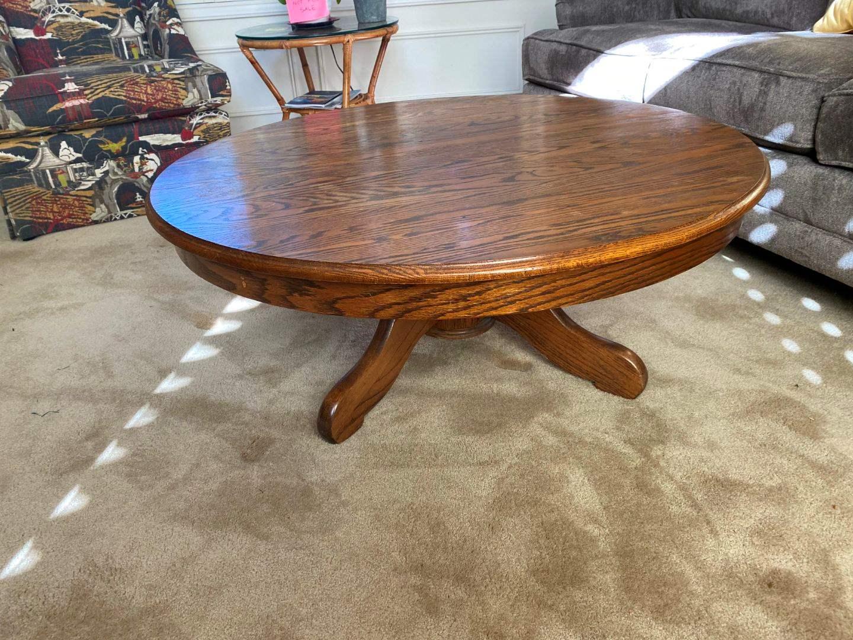 Lot # 4 - Vintage Oak Coffee Table  (main image)