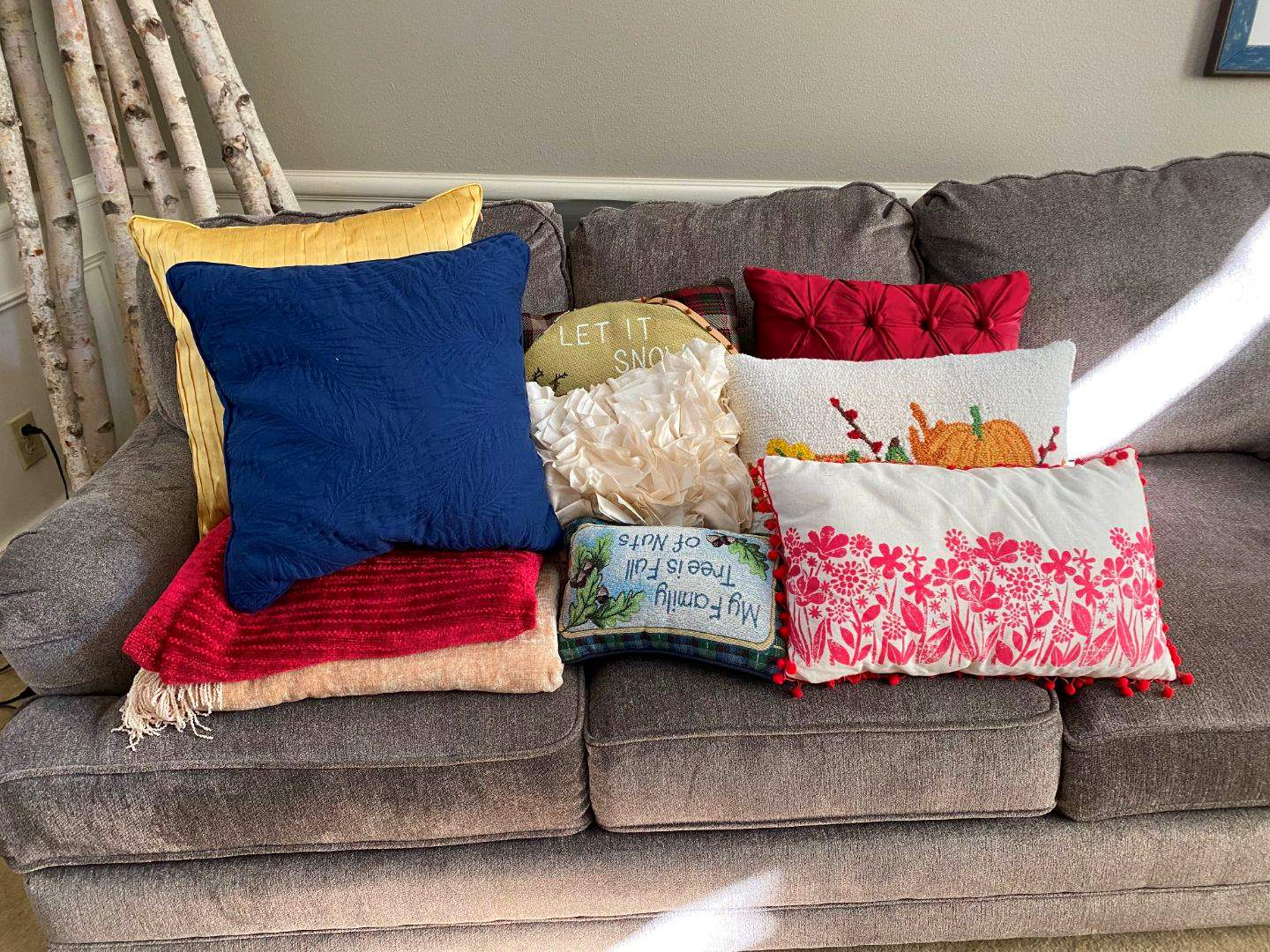 Lot # 7 - Throw Pillows & Blankets (main image)