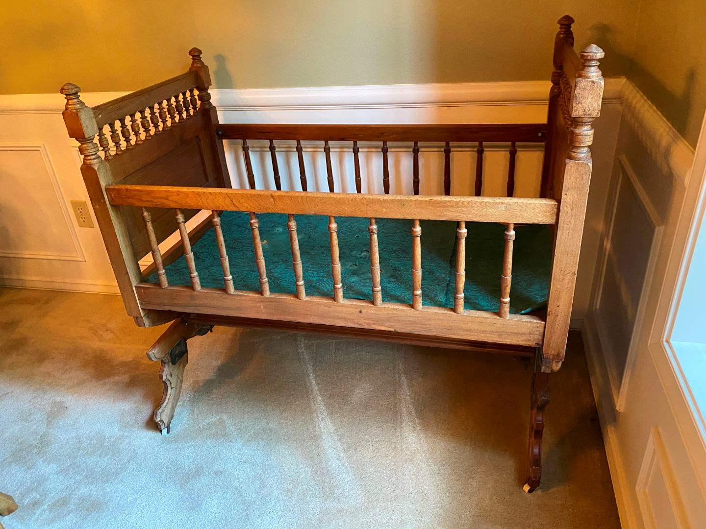 Lot # 21 - Antique Baby Crib from Amana Colonies, IA (main image)