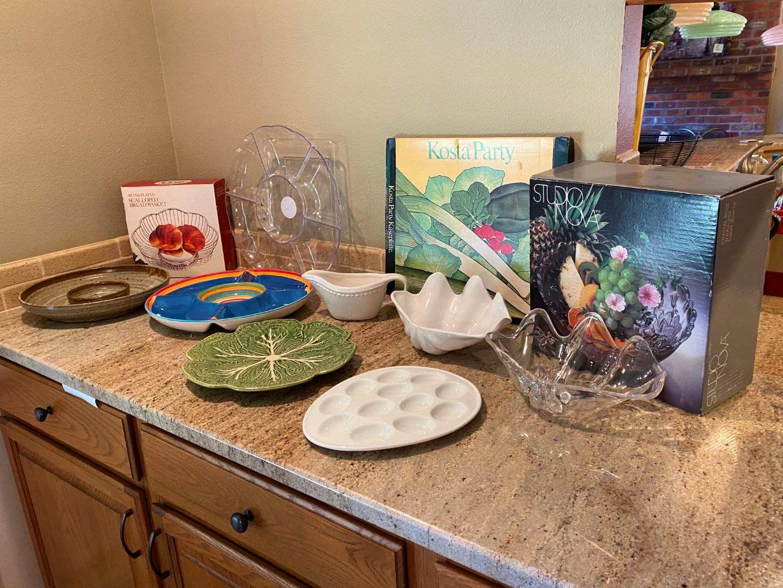 Lot # 24 - Studio Nova Bowl, Egg Tray, Signed Pottery Snack Dish & More.. (main image)