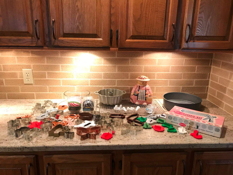 Lot # 57 - Wear-Ever Cookie Gun, Pastry Decorator, Cake Pan, Cookie Jar, Cookie Cutters & More.. (main image)
