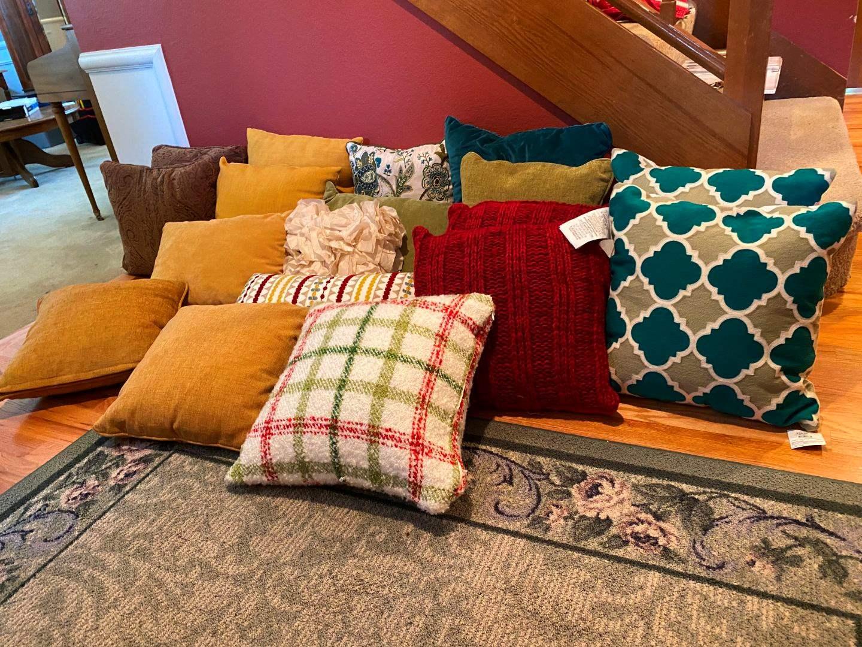 Lot # 38 - Throw Pillows of Various Sizes (main image)