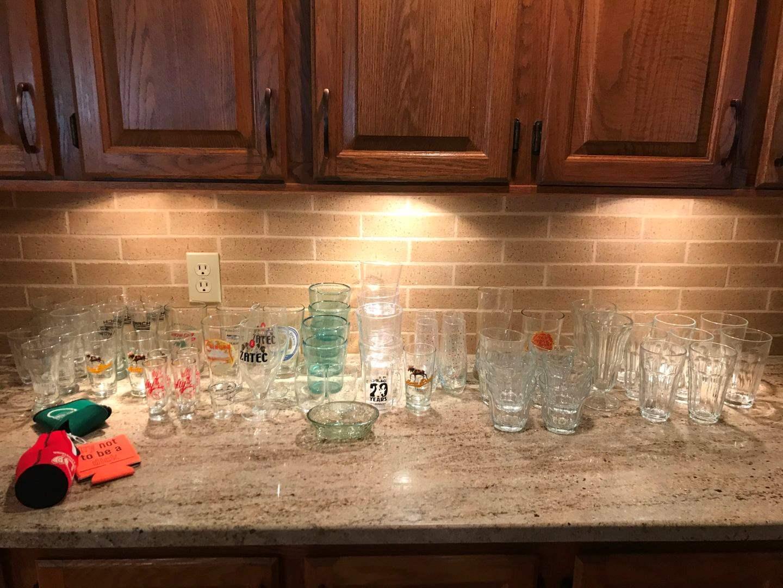 Lot # 69 - Misc Glasses, Shot Glasses & More.. (main image)