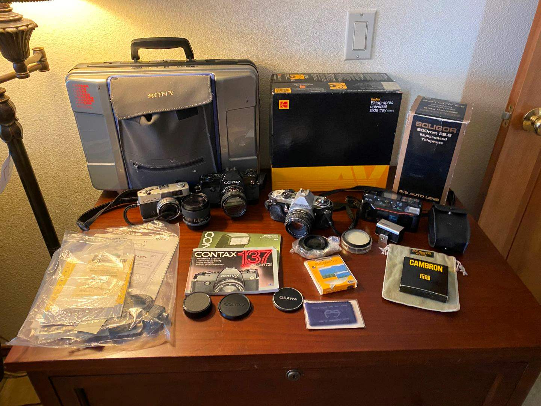 Lot # 140 - Vintage Cameras, Camcorder & More - (See Description) (main image)