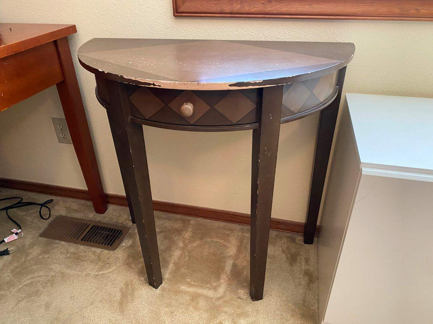 Lot # 151 - Wood Wall Hugging Side Table from Pier 1 Imports (main image)