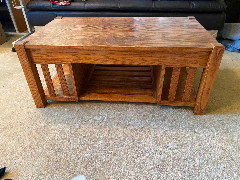 Lot # 158 - Solid Oak Coffee Table  (main image)