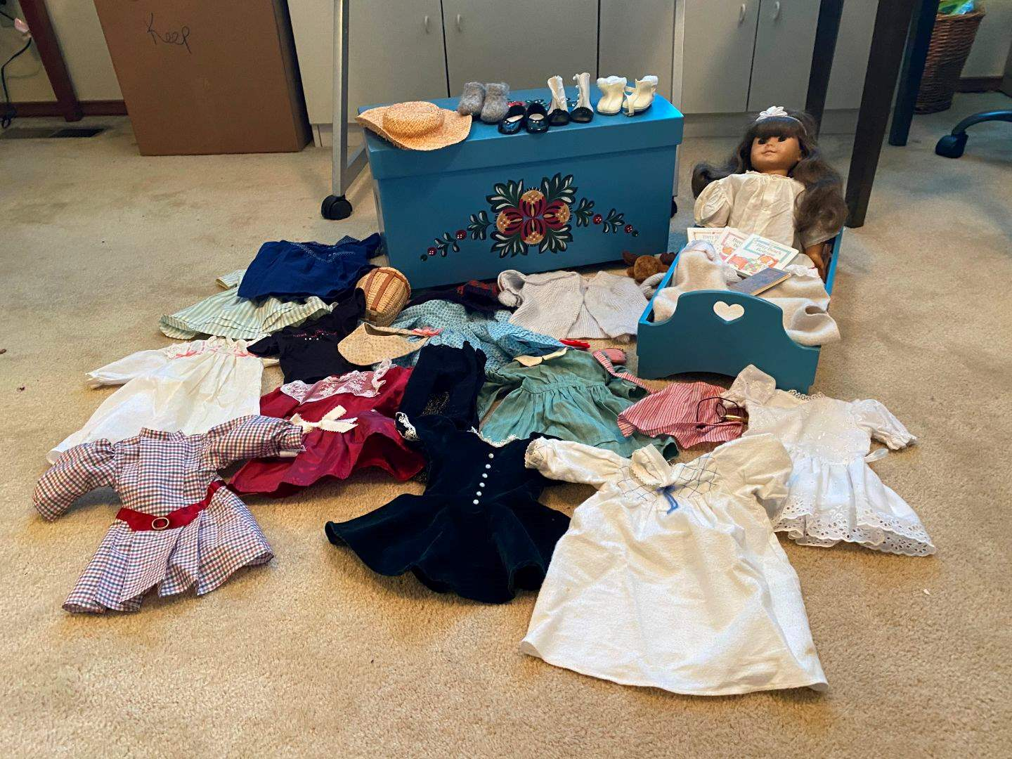 Lot # 160 - American Girl Doll, American Girl Doll Bed & Chest, American Girl Doll Clothes  (main image)