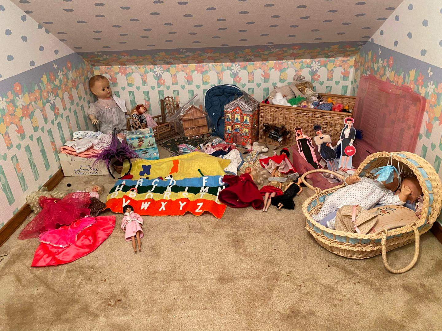 Lot # 162 - American Girl Baby Doll, Stuffed Animals, Barbies, Doll Clothes & More.. (main image)