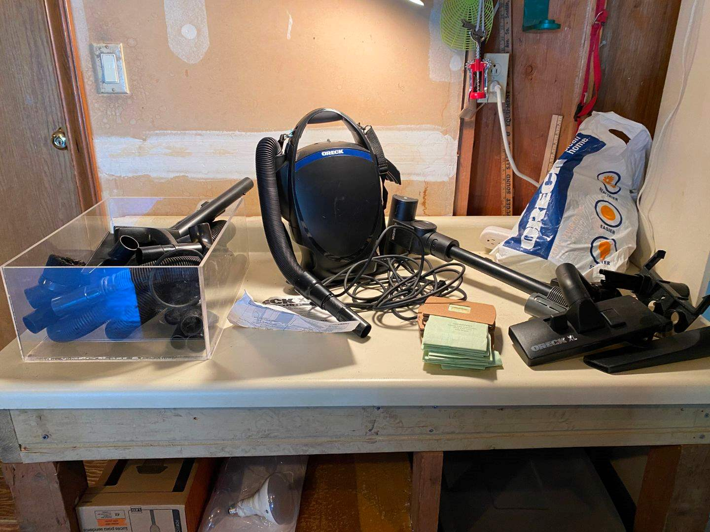 Lot # 233 - Small Oreck Vacuum Cleaner w/ Accessories. (main image)