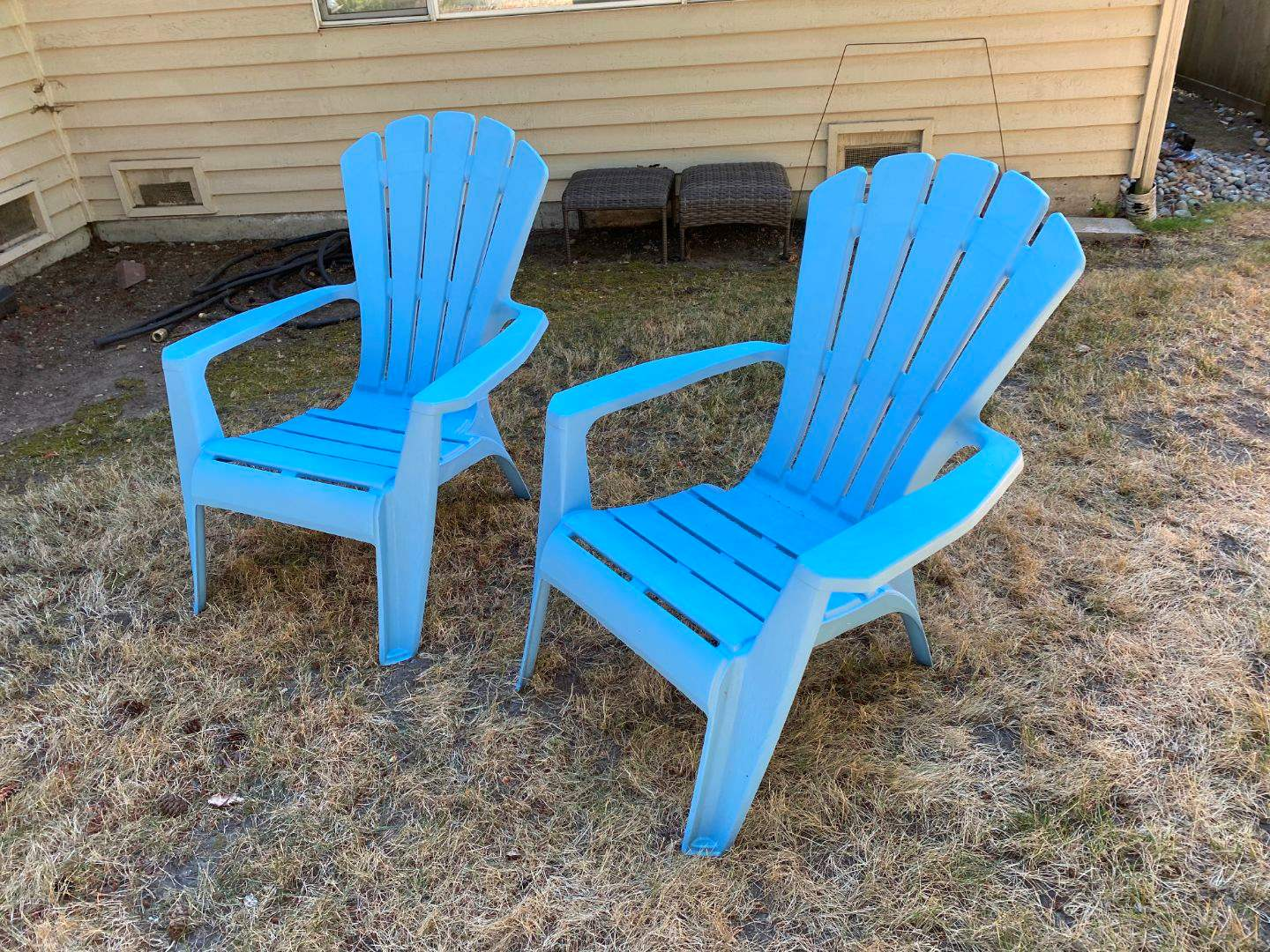 Lot # 252 - Two Blue Patio Chairs (main image)