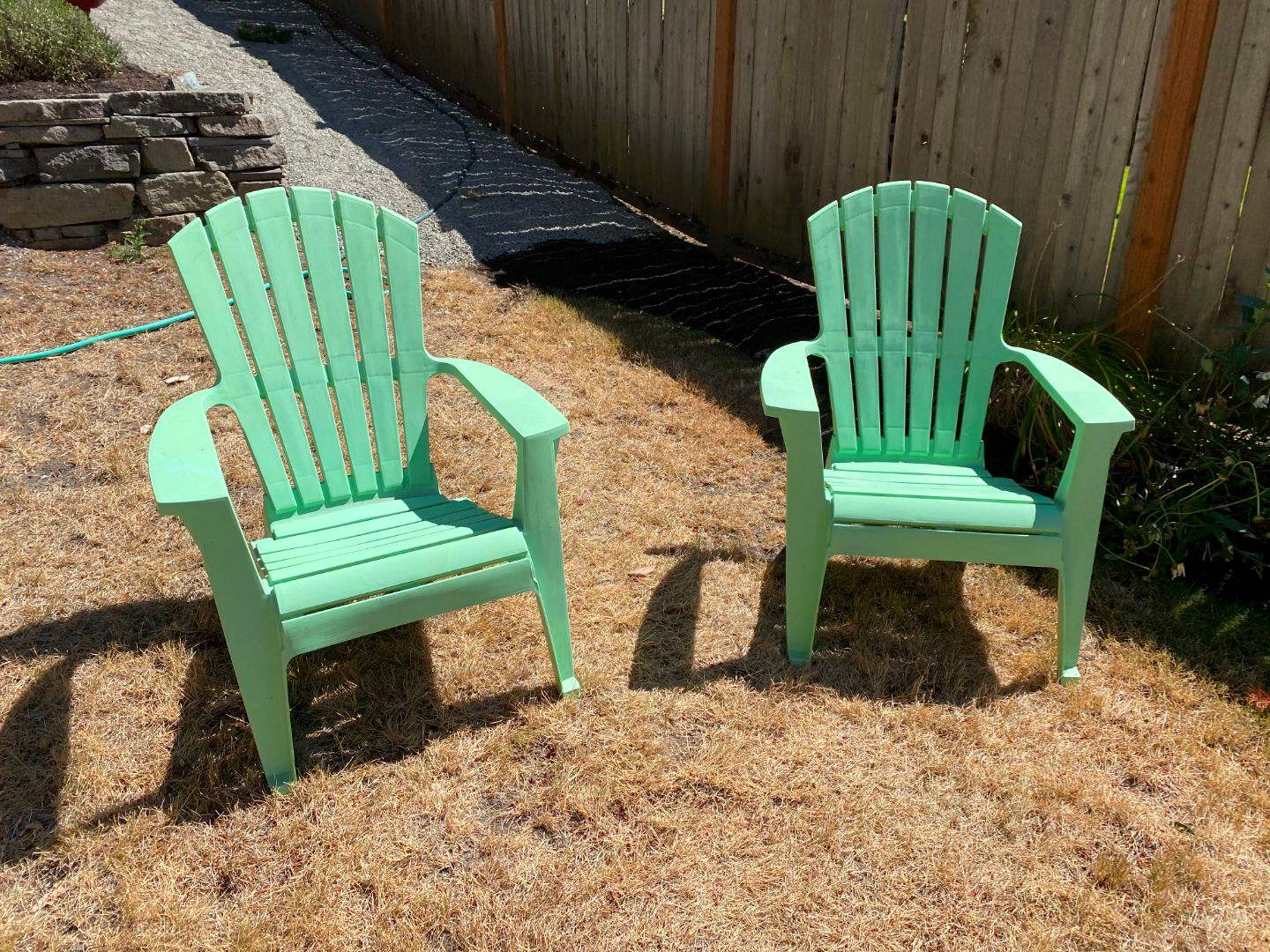 Lot # 255 - Two Green Patio Chairs (main image)