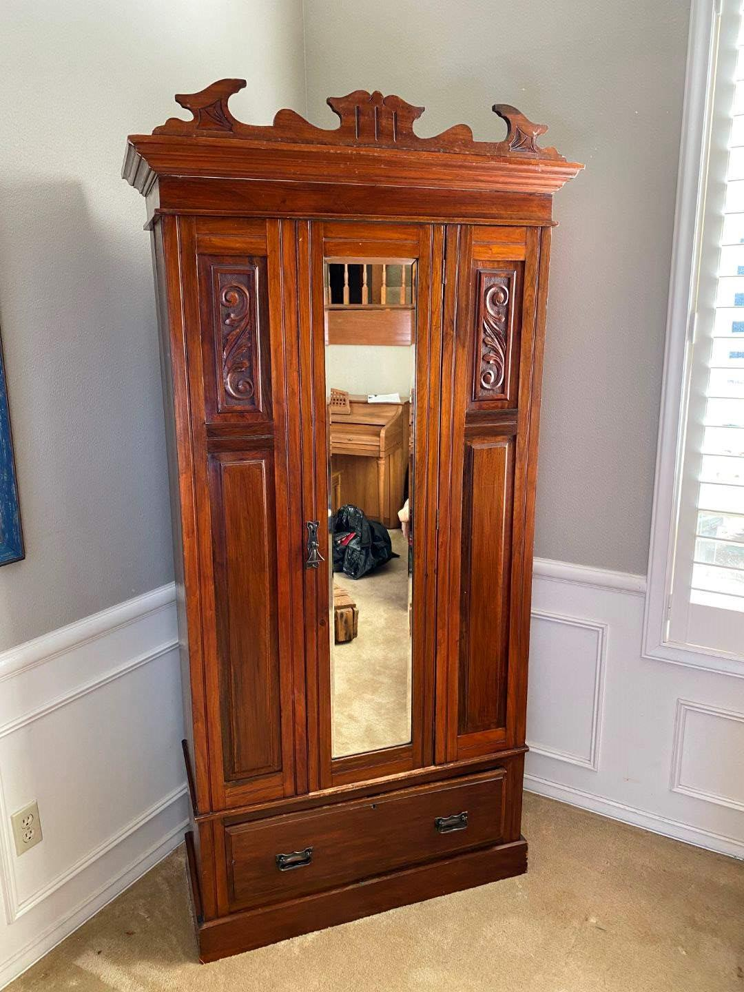 Lot # 1 - Nice Antique Armoire  (main image)