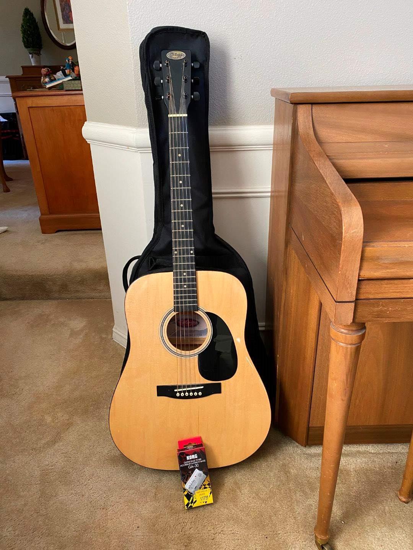 Lot # 10 - Stagg Handmade Western Guitar Model #SW203N w/Tuner (main image)