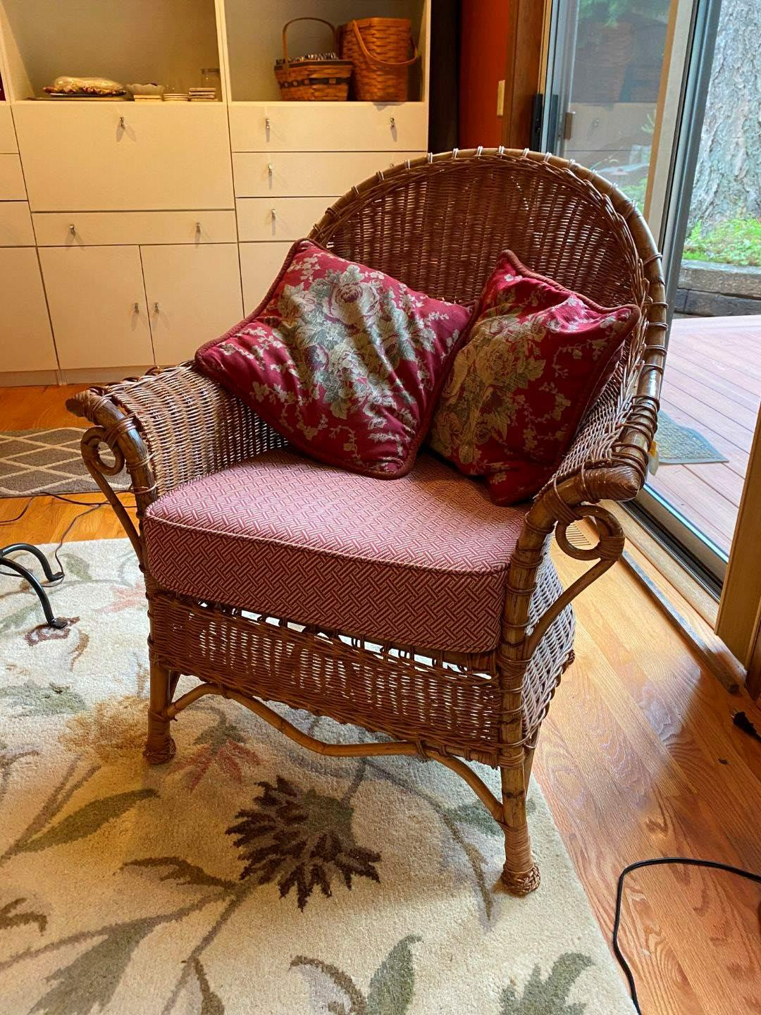 Lot # 81 - Durban Rattan & Wicker Armchair from Pier 1 Imports (main image)