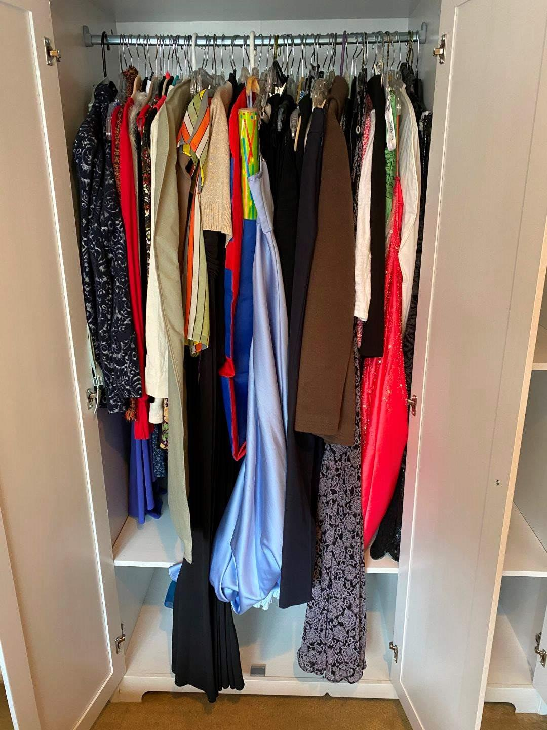 Lot # 96 - Nice Selection of Women's Clothing & Dresses  - (Some New With Tags - See Pictures for Sizes & Brands) (main image)