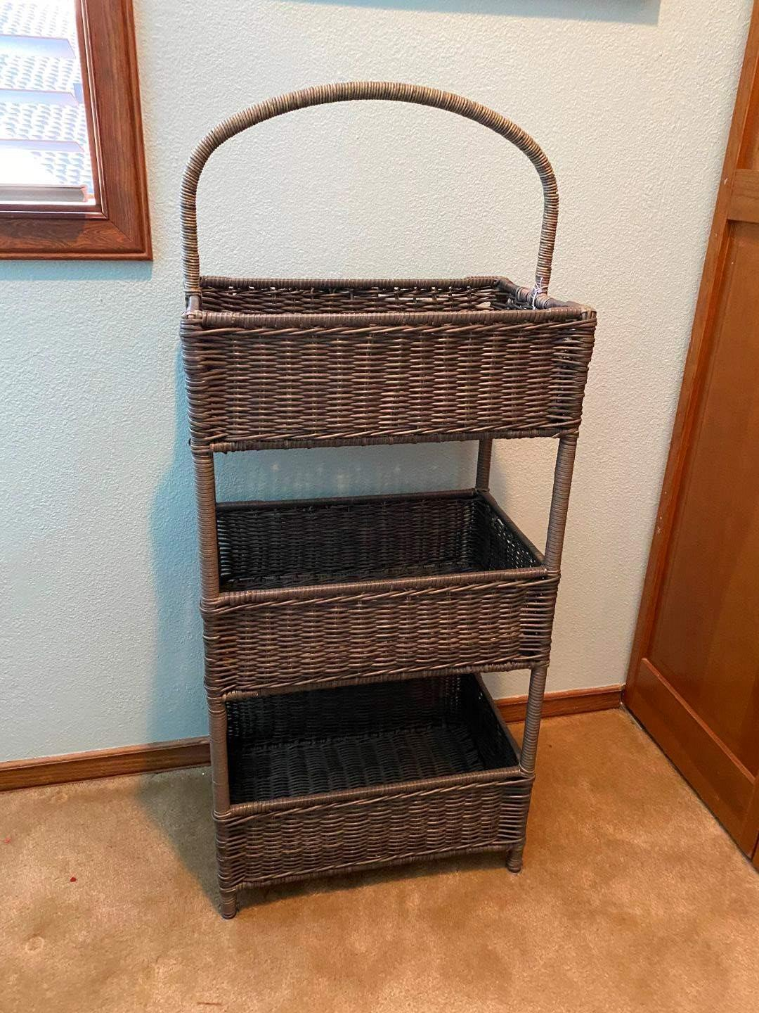 Lot # 117 - Cute 3 Tier Basket from Pier 1 Imports (main image)