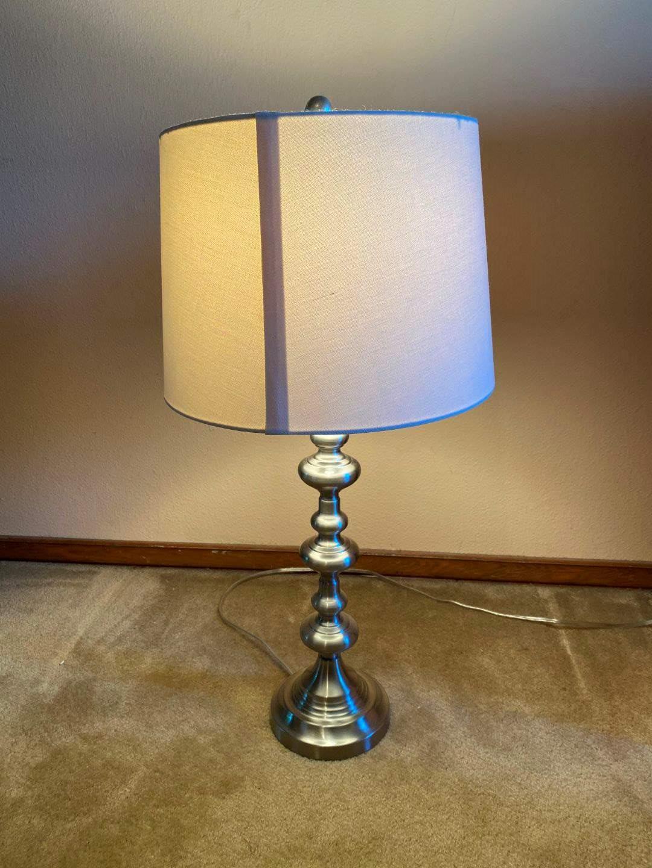 """Lot # 128 - Metal Lamp - 29"""" Tall  (main image)"""