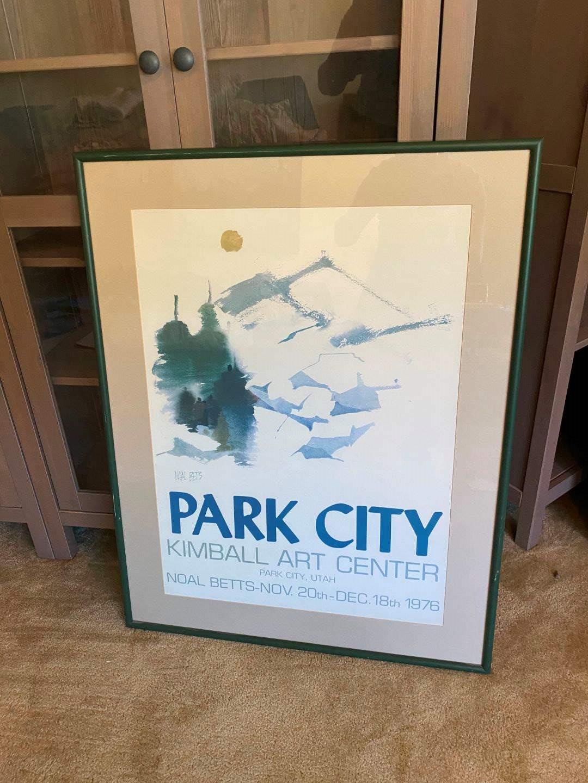 "Lot # 172 - Large Park City Kimball Art Center Advertisement Poster - 37"" x 29"" (main image)"
