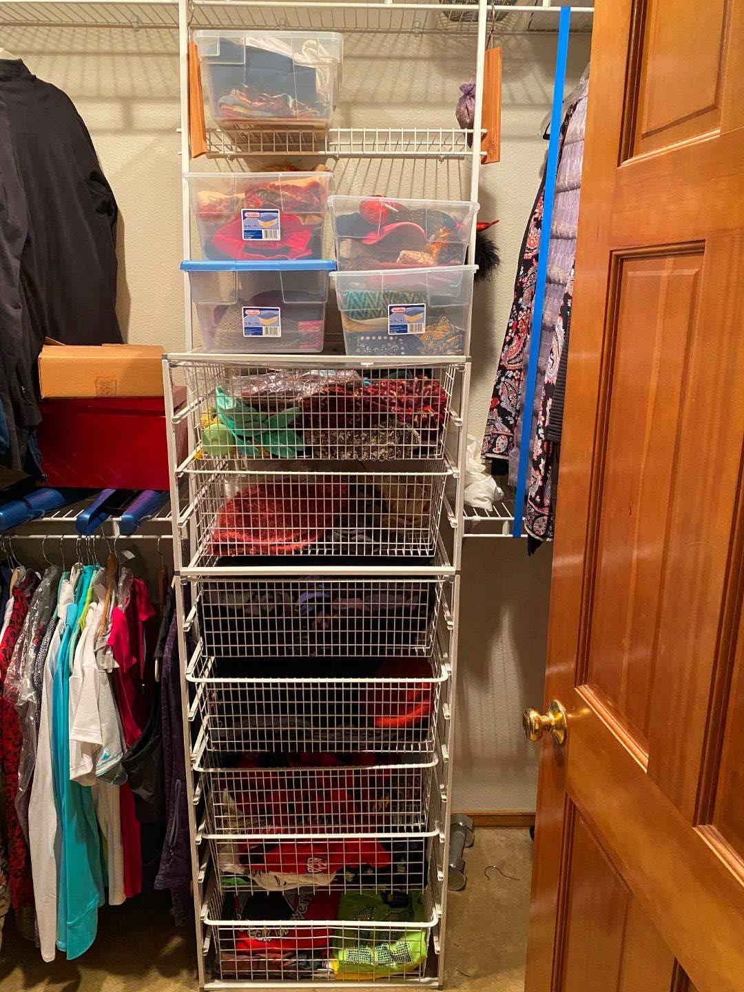 Lot # 185 - Clothes Rack Filled w/Women's Misc. Shirts, Hats, Scarves & More - (See Pictures for Brands & Sizes) (main image)