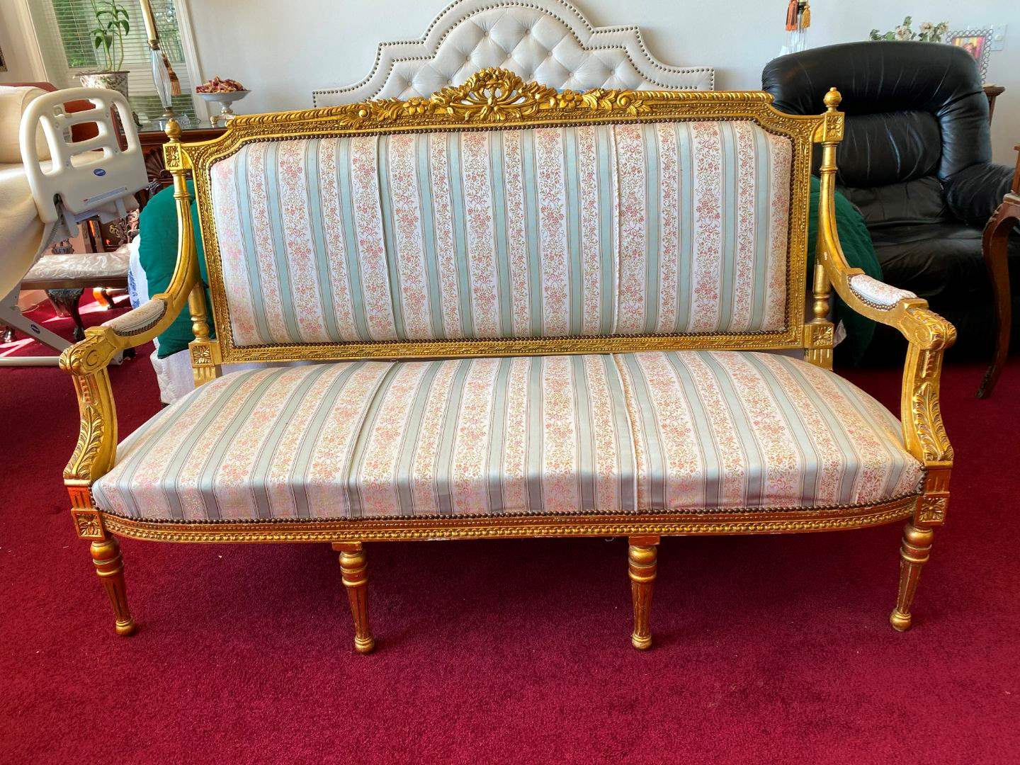 Lot # 15 - Vintage French Louis XV Style Parlors Sofa  (main image)