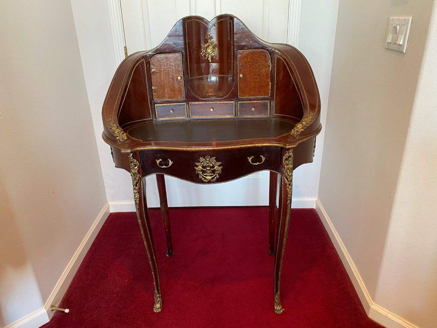 Lot # 28 - Awesome Antique French Louis XV Style Desk w/Brass Accents  (main image)