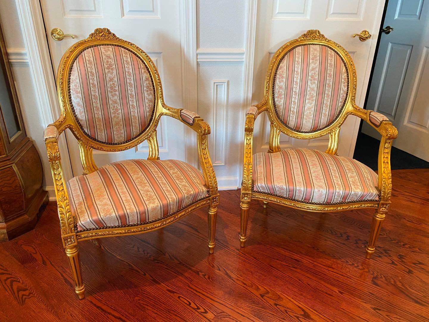 Lot # 37 - Vintage French Louis XV Style Parlors Chairs  (main image)