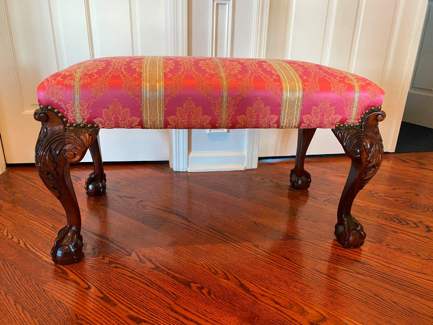 Lot # 41 - Antique Claw Footed Bench  (main image)