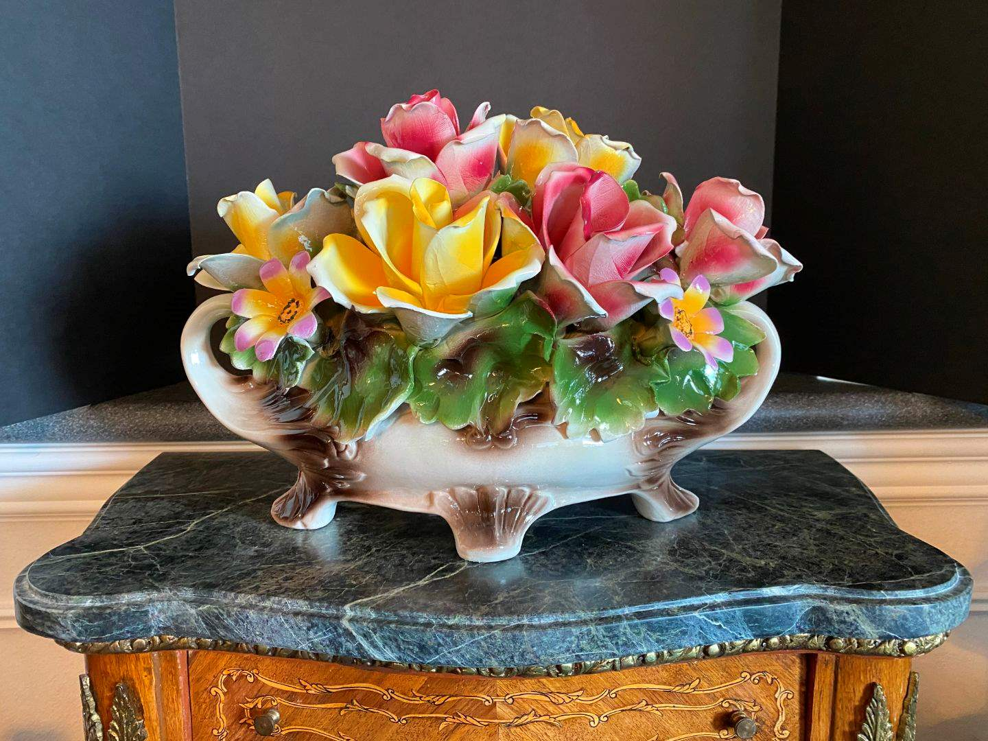 Lot # 52 - Beautiful Large Capodimonte Floral Arrangement  (main image)