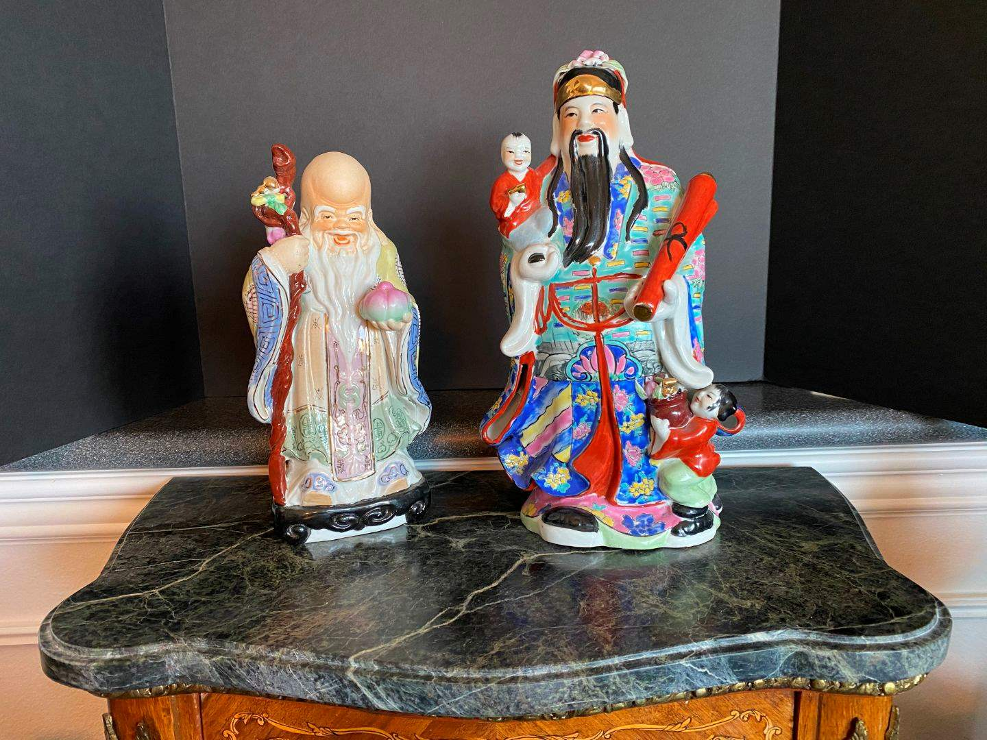 Lot # 62 - Two Ceramic Asian Figurines  (main image)