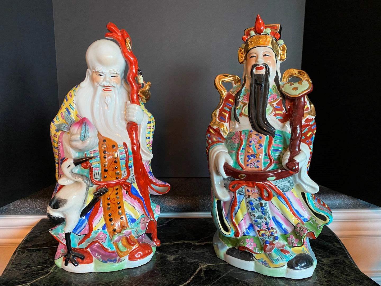 Lot # 70 - Two Ceramic Asian Figurines (main image)