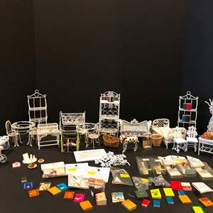 Auction Thumbnail for: Lot # 153 - Vintage Metal Doll Furniture & More..